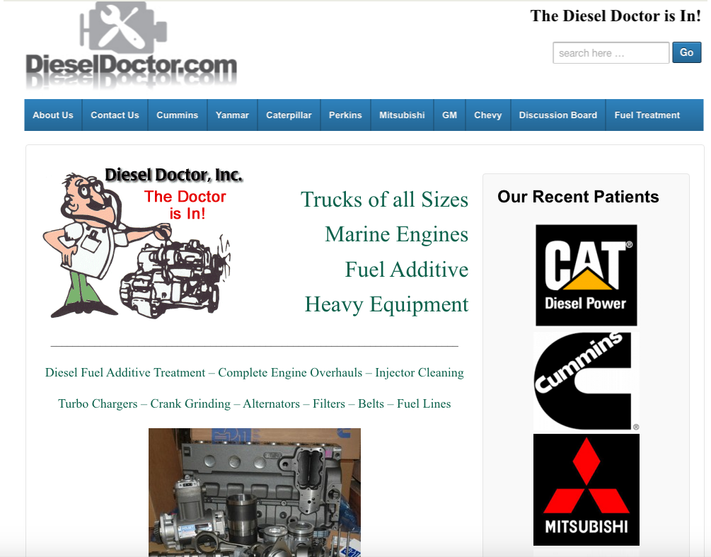 Domainworks Websites DieselDoctor.com