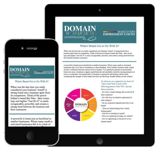 Email Newsletter Mobile Domainworks