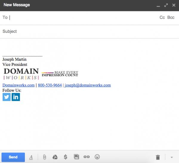 Email Signature Domainworks