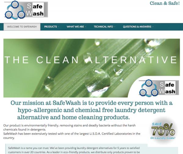 Safewash brand